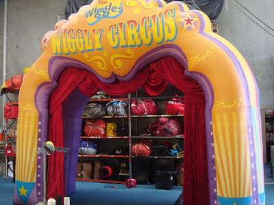 Inflatable Entrance Wiggly Circus