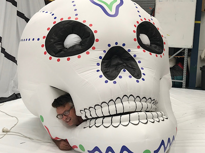Inflatable Skull Stage piece