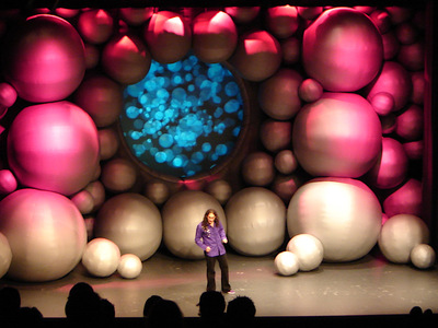 Ross Noble Big Inflatable Balls Stage