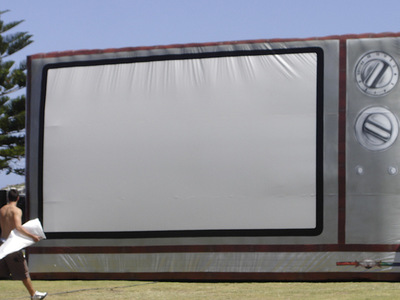 Giant Inflatable Television Projection Screen