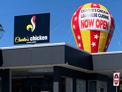 Charlies Chicken Inflatable Promotion