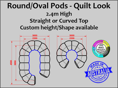 Round Inflatable Pods Quilted  - Sizes